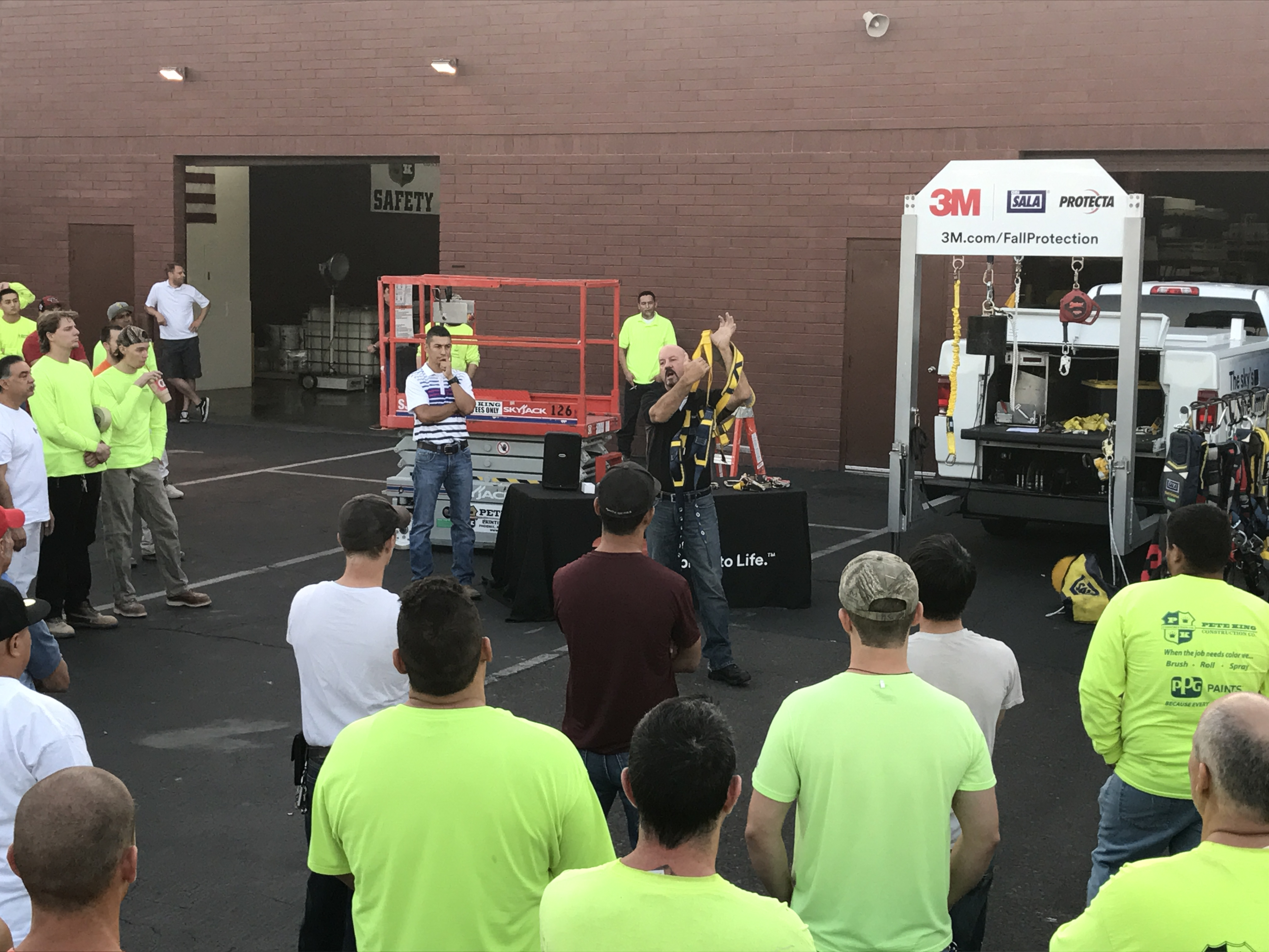 Pete King Construction Fall Protection Training